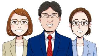 ビジネス 似顔絵 男性 女性